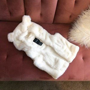 Girls Faux Fur Vest w/ Ears